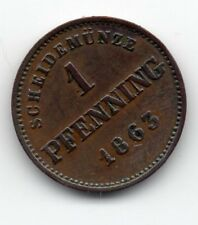 Germany - Bavaria / Bayern - 1 Pfennig 1863