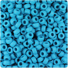 1000 Dark Turquoise Matte 7mm Mini Barrel Plastic Pony Beads Made in the USA