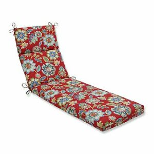 Pillow Perfect 601717 Outdoor/Indoor Daelyn Cherry Chaise Lounge Cushion 72.5...
