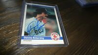 1984 FLEER DENNIS ECKERSLEY  AUTOGRAPHED BASEBALL CARD