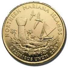 2009 NORTHERN MARIANA 24KT GOLD PLATED QUARTER (P)