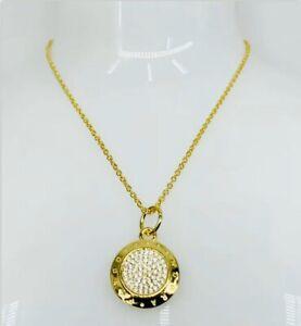 New Pandora Signature Necklace Cubic Zirconia  Gold-plate