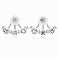 Silver and White Shell Beautiful Daisy Flowers Studs Women Earrings Bridal E1242