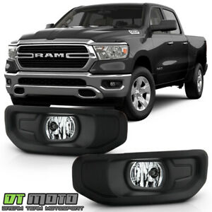 2019-2020 RAM 1500 Halogen Bumper Fog Lights Driving Lamps w/ Switch Left+Right