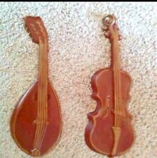 Royal Cast Metal Violin & Mandolin WALL HANGING Decor Music Instrument