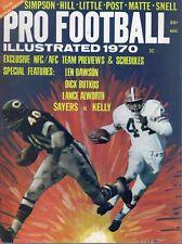 1970 Pro Football Illustrated magazine Gale Sayers,Chicago Bears, Leroy Kelly VG