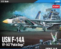 "1:72  USN F-14A VF-143 ""Pukin Dogs"" #12563 ACADEMY  HOBBY KITS"