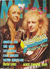 METAL SHOCK 23 1988 Judas Priest Astaroth Alice Cooper David Chastain Testament