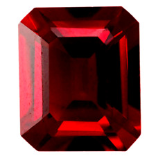 Lab Created Rich Vivid Red Ruby AAA+ Emerald Cut Loose Gem (5x3mm - 18x13mm)