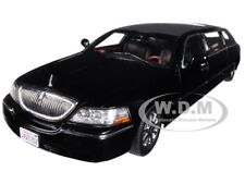 2003 LINCOLN TOWN CAR LIMO LIMOUSINE BLACK 1/18 DIECAST MODEL BY SUNSTAR 4202