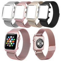 Rose Pink Milanese Magnetic Loop Stainless Steel Watch Strap For Apple Watch 1/2