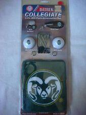 NEW Datrek Collegiate Colorado State Rams 5 pc. Golf Gift Pack Accessories Set