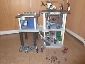 PLAYMOBIL City Action 5176 - Polizei-Kommandostation + Hubschrauber + Motorräder