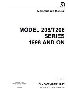 Cessna Model 206/T206 Series Maintenance Manual