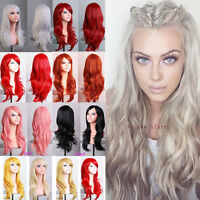 Cosplay Wig Women Long Straight Curly Hair Party Anime Costume Full Wigs mdq