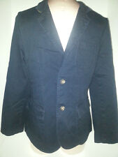 RALPH LAUREN Polo Button Front Casual Blazer Suit Boys Youth Size 18-20 XL Blue