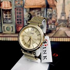 AUTHENTIC GUESS LADIES' SOHO WATCH GOLD TONE RRP:$449 U0638L2 Brand New