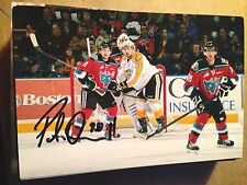 Peter Quenneville SIGNED 4x6 photo BRANDON WHEAT KINGS / COLUMBUS BLUE JACKETS