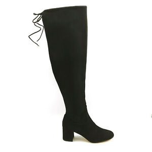 GILI Womens Baylie Textile Over the Knee Boots A296473 Black 6.5M