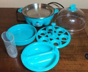Turquoise Egg Cooker - Used, Works Great