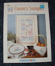 Dimensions 'Country Sampler' Cross Stitch Pattern Leaflet #125