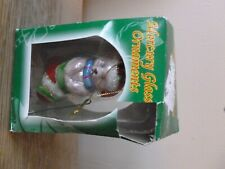Christmas Bear in stocking - Mercury Glass Ornament - Free Shipping!