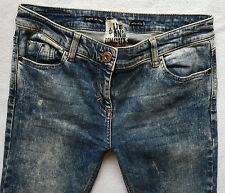 River Island Ladies Jeans Size 12 S super skinny LIVE & UNCUT acid wash 32/29