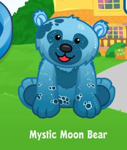 Webkinz Mystic Moon Bear Virtual PET Adoption Code Only Messaged Webkinz PROMO!!