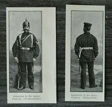 HO4) Kunst Druck 1885-1900 Miliär Infanterie Neue Uniform Pickelhaube Gewehr +++
