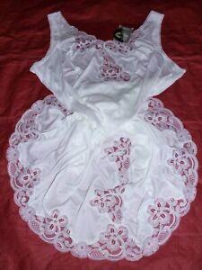 fond de robe combinaison nylon nuisette unterkleid full slip taille 52 neuf