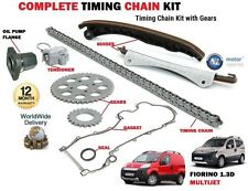 FOR FIAT FLORINO 1.3D MULTIJET + VAN 2008-> TIMING CHAIN KIT + GEAR SET + FLANGE