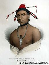 Ma-Ko-Me-Ta or Bear's Oil, A Monomonie Chief - 1827 - James Otto Lewis Art Print