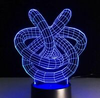 3D Illusion Table Desk Lamp LED Night Light Kids Xmas Bedroom Decor Gift 7 Color