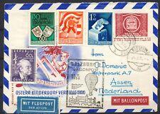 SALZBURG BALLONPOST 22.X.1950 (KINDERDORF VEREIN) WITH CARINTHIAN SET      Gl461