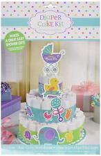 "Amscan Baby Shower Bottom Diaper Cake Kit 13 1/4"" Multicolor Party Gift"