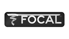 "Focal 2""x0.5"" inch Chrome Domed Case Badge / Sticker Logo"