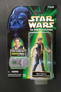 Han Solo with Blaster & Holster Commtech Star Wars POTF2 Action Figure 1999
