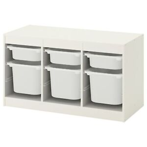 """TROFAST with bins, White 39 x 17 3/8 x 22 """""""" BRAND NEW, FAST SHIPPING"""