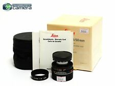 Leica Elmar-M 50mm F/2.8 E39 Lens Black *MINT- in Box*