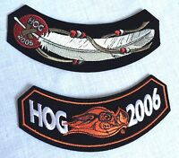 Harley Davidson Hog Owners Embroidered Motorcycle Patch Unused New