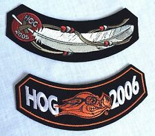 Harley Davidson Embroidered Motorcycle Patch Hog Owners Unused New