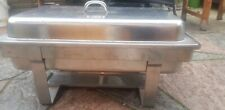 STAINLESS STEEL CHAFING DISH SET FOOD WARMER BUFFET FOOD PANS FUEL PARTY