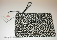 NWT KATE SPADE On Purpose Floral Mosaic Canvas Bow Wristlet BLACK