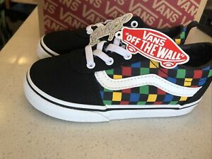 VANS Ward Slip-On Checker Tape Party Time Toddler Shoes Size 10