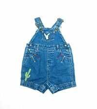 Vintage Country Denim Shortalls Infant Overalls Farm Style 3-6M Donkey Cactus
