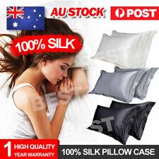 2PCS Bedroom Mulberry Silk pillowcases pillow Cushion Queen pillow Covers OZ