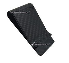 SERMAN BRANDS - Carbon Fiber Money Clip Wallet Credit Card Cash Holder Black