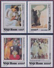 VIETNAM N°1592/1595** Tableaux Femmes, 1995 Vietnam 2662-2665 Painting MNH