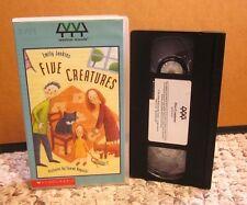 FIVE CREATURES adaptation Emily Jenkins animated Tomek Bogacki educational VHS