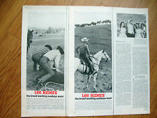 1962 Lee Riders Jeans Ad   Cowboys     Lot of 3 Ads